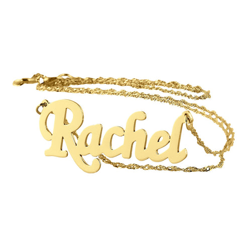 Name Necklace 18K Gold Plating Dainty Pendant Charm