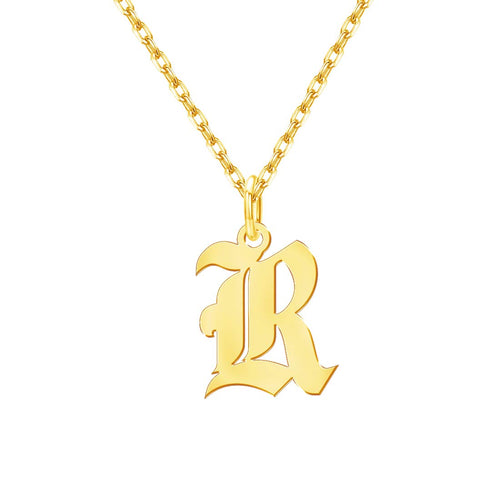 18K Gold Plating  Initial Necklace
