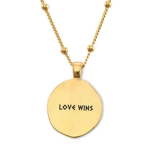 18K Gold Plated Aphrodite Coin Necklace With Name - Silviax