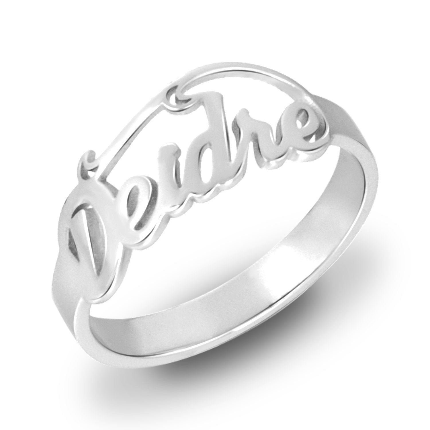 18K Gold Plated Personalized Name Ring