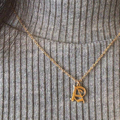 18K Gold Plating  Initial Necklace - Silviax