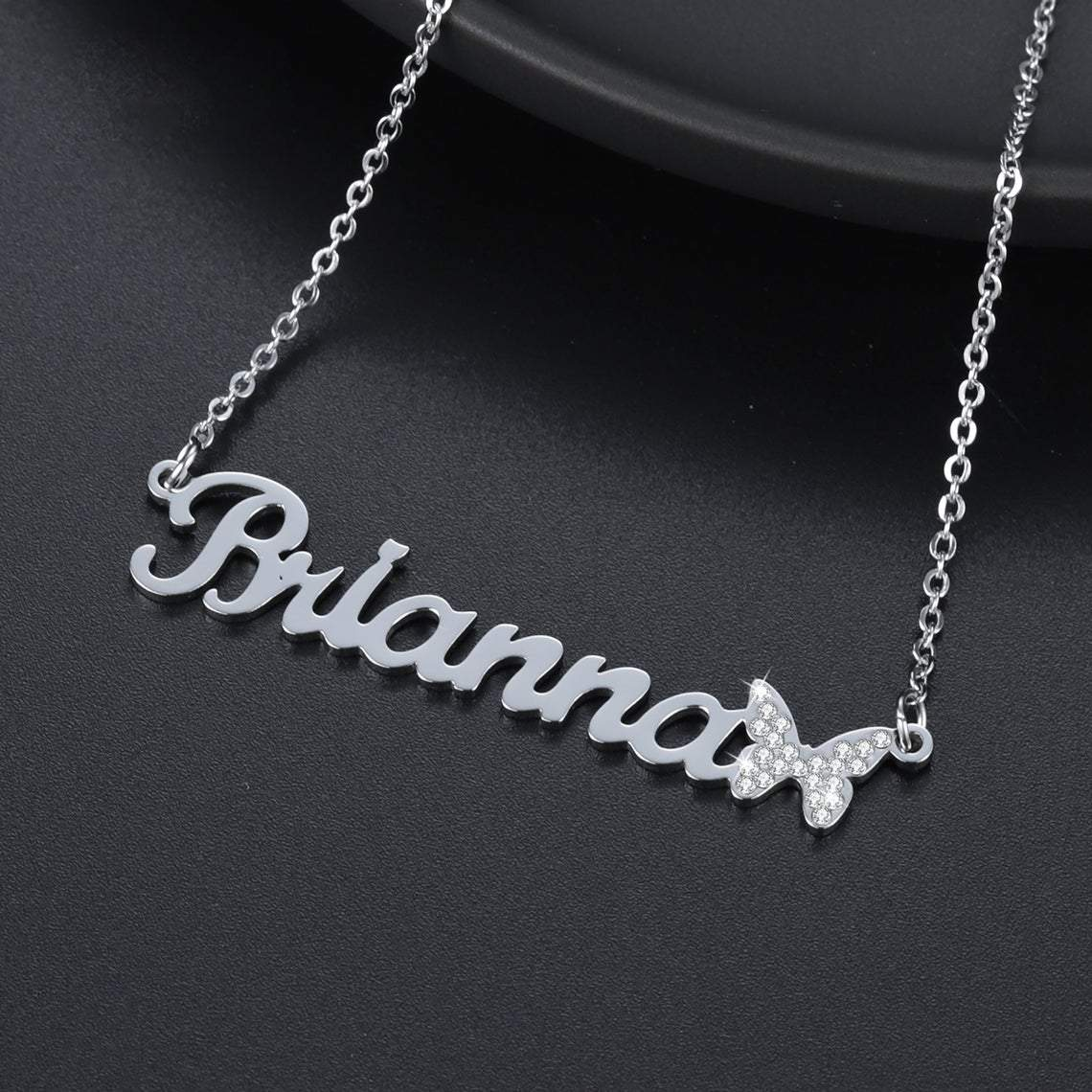 Butterfly 18K Gold Plated Personalized Name Necklace
