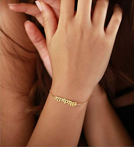Customized  Link Name Bracelet 18K Gold Plated