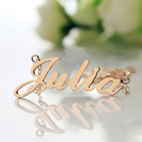 Girls Personalized 18K Gold Plated O Chain Name Necklace