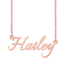 Name Necklace Gold Plated Gift For Girlfriend Mother