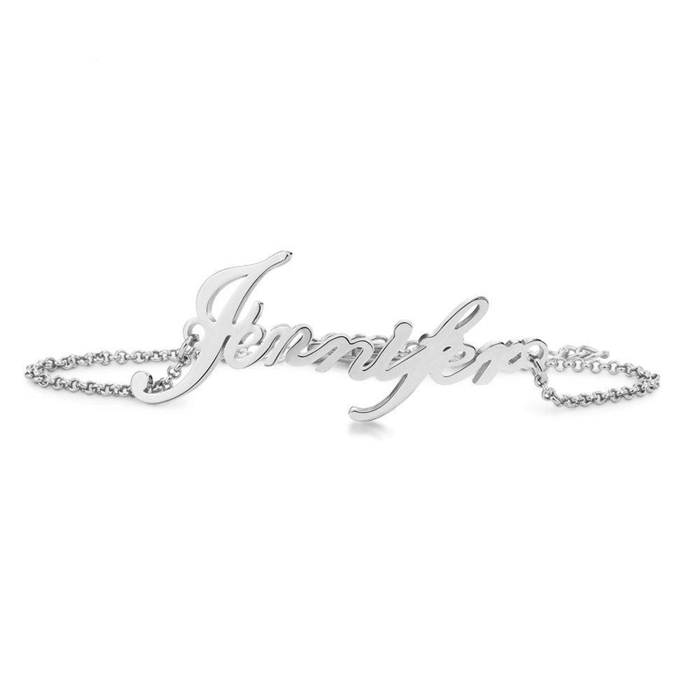 925 Sterling Silver Personalized Bracelet With Name - Silviax