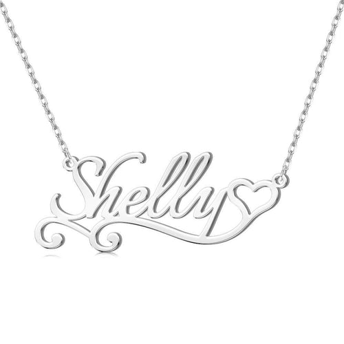 Heart Personalized Name Necklace 18K Gold Plated