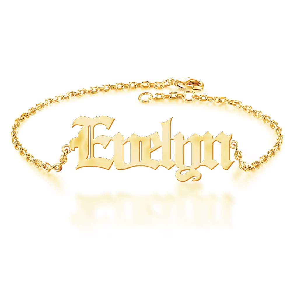 Customized Name Anklet 18K Gold Plated