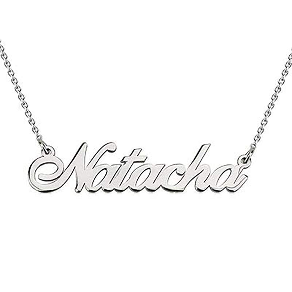 Personalized Necklace With Name 18K Gold Name Pendant