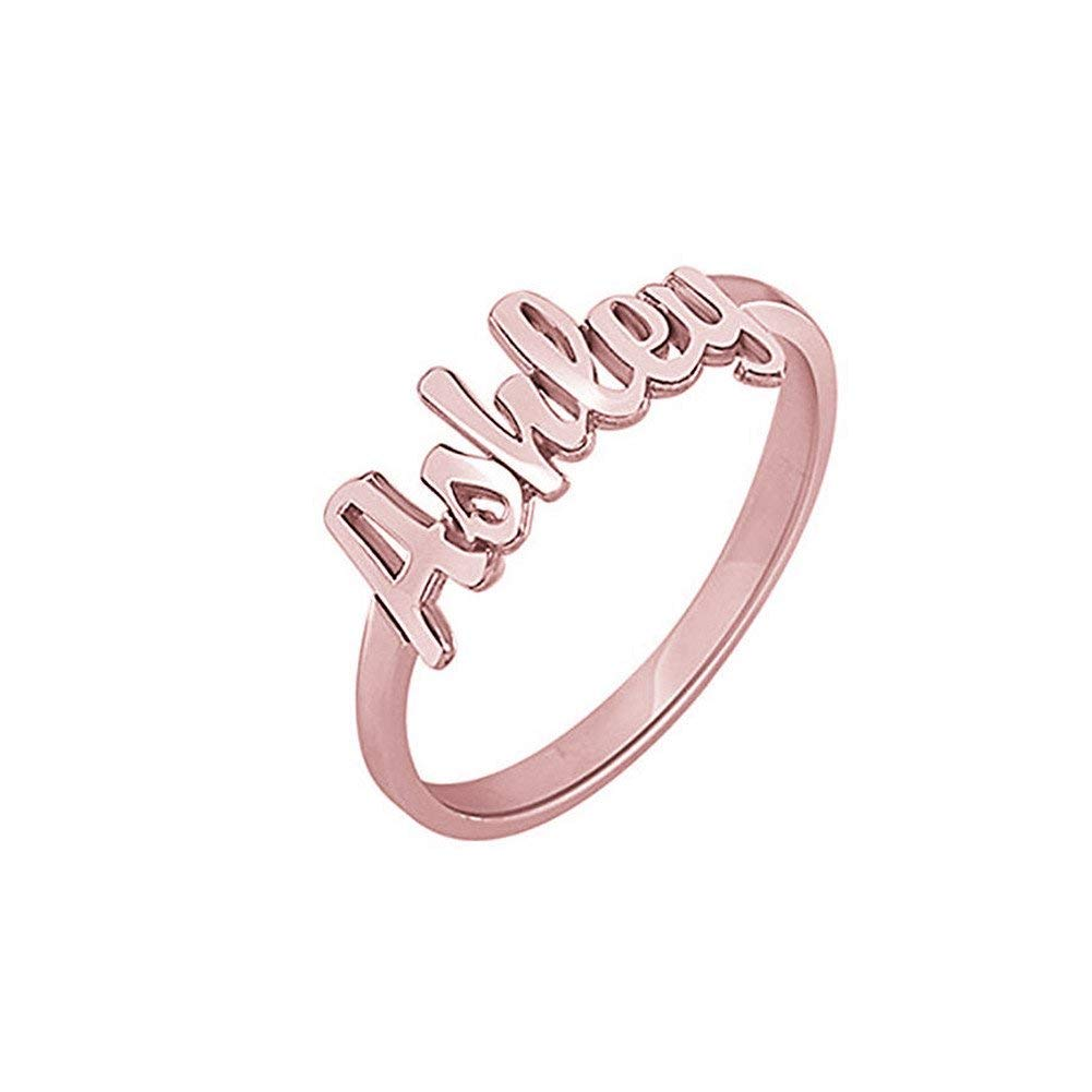 925 Sterling Silver Personalized ring with name For Girls - Silviax
