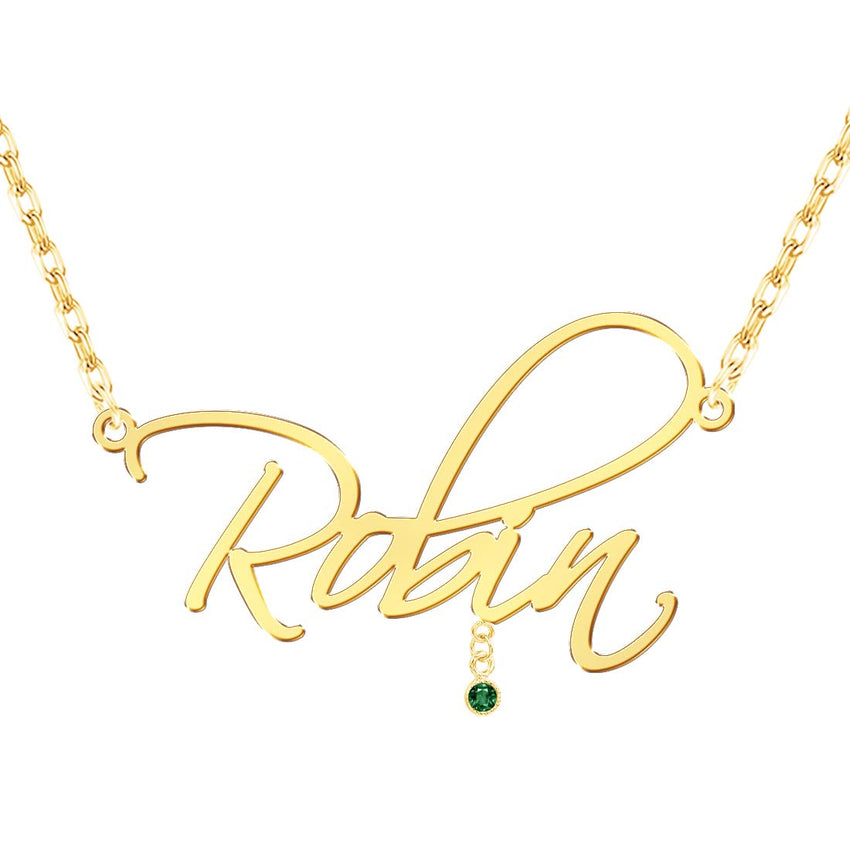 18K Gold Plated Necklace with Name - Silviax