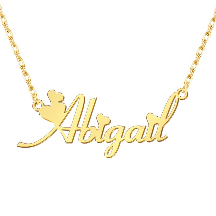 Customized Name Necklace 18k Gold Planting