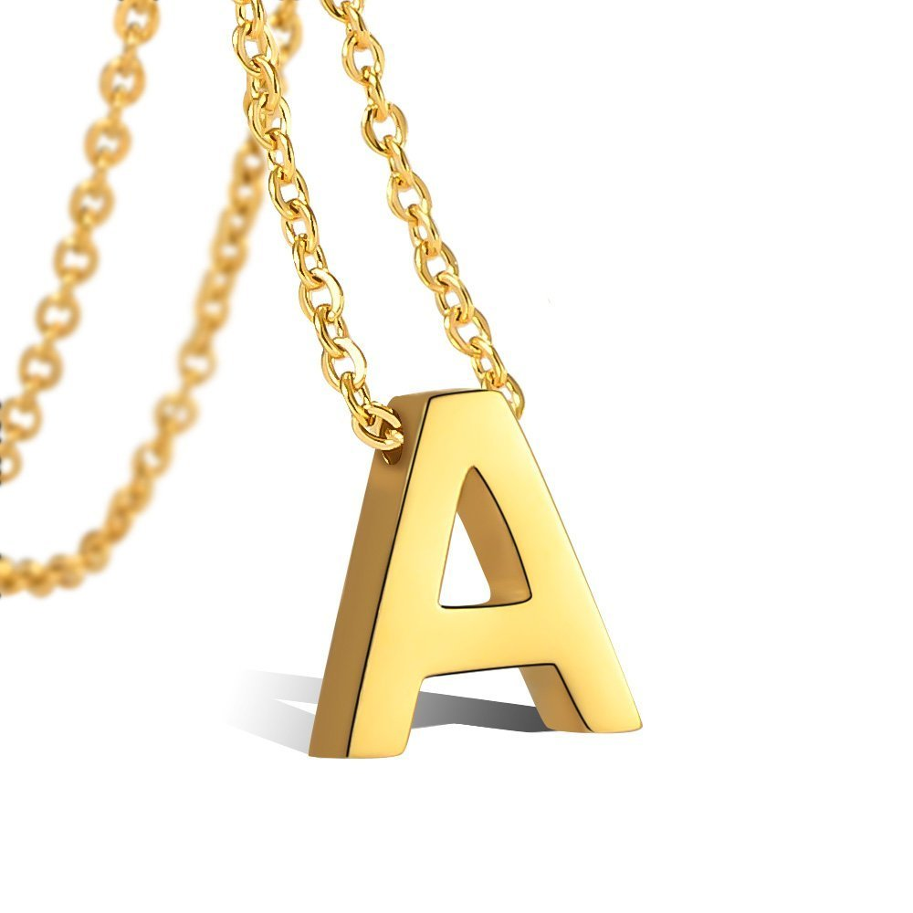 18k Gold Plated Letter Initial Necklace