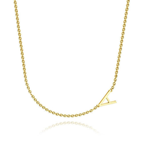 18K Gold Plated Personalized Letter Initial Necklace