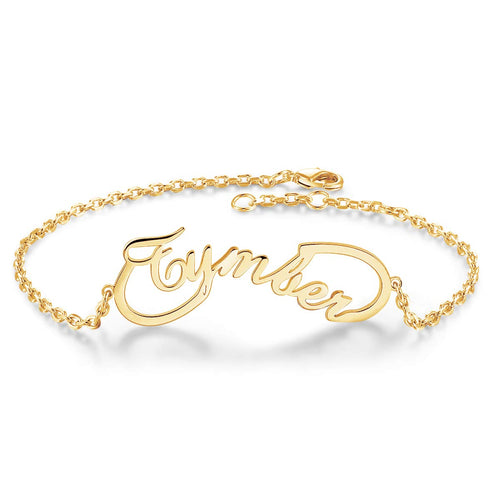 18K Gold Plated Infinity Name Bracelets Personalized - Silviax