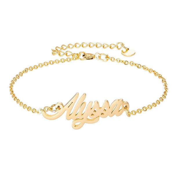 18K Gold Plated Personalized Name Bracelet