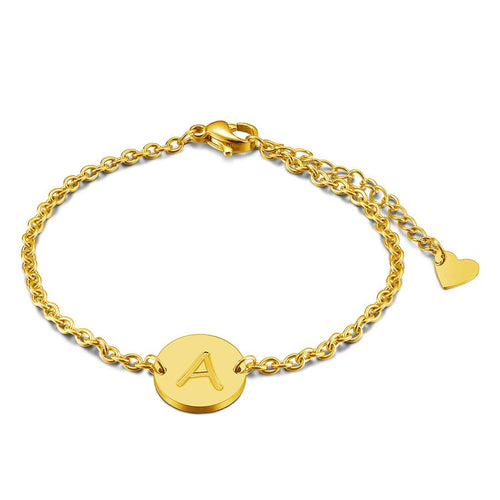 Personalized Engraved Initial Bracelet