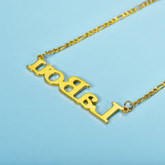 Two Toned Personalize Gold Plated Name Necklace