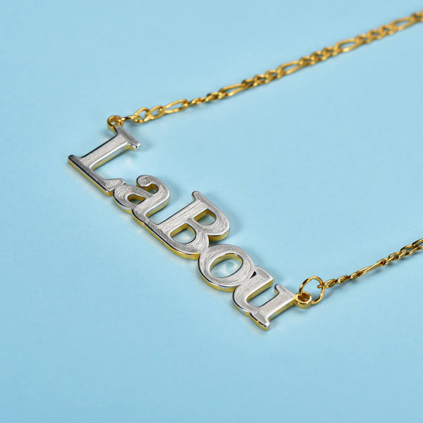 925 Sterling Silver Snowman Name Necklace