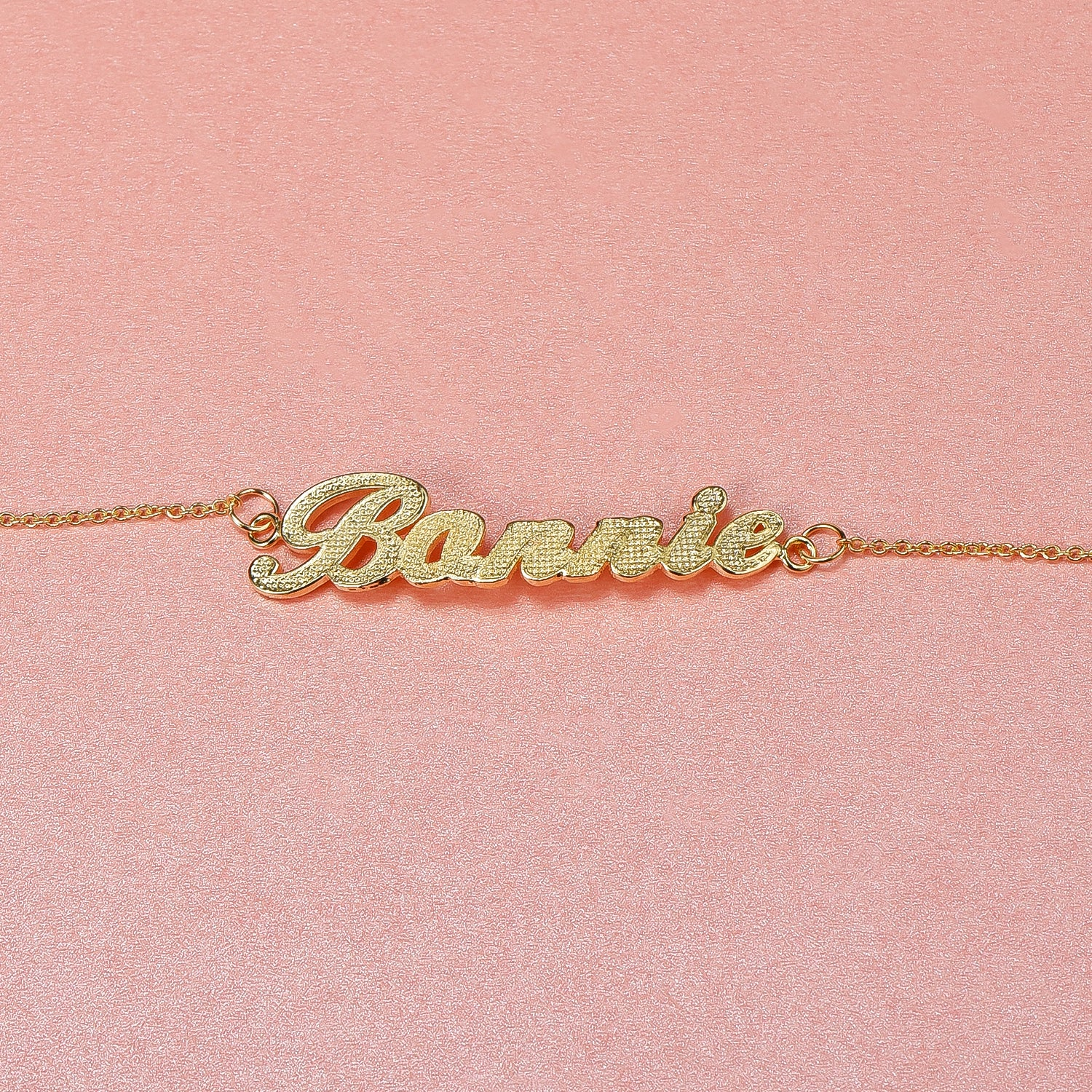 18K Gold Plated Personalized Diamond cut Name Bracelet