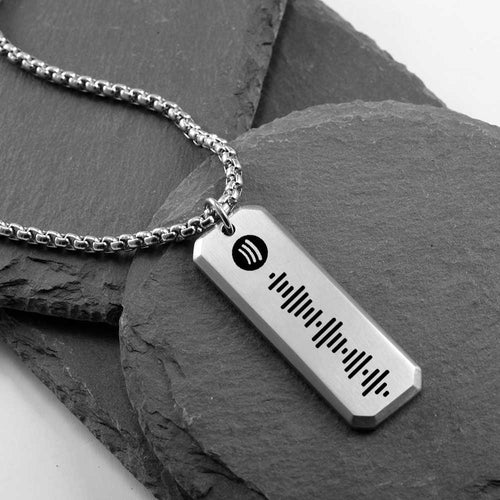 Music Spotify Scannable Code Personalized Custom Necklace