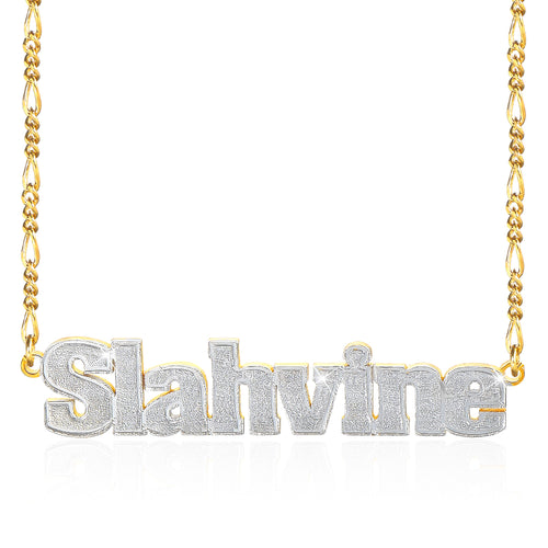 18K Gold Plated Two Tone Personalized Name Necklace