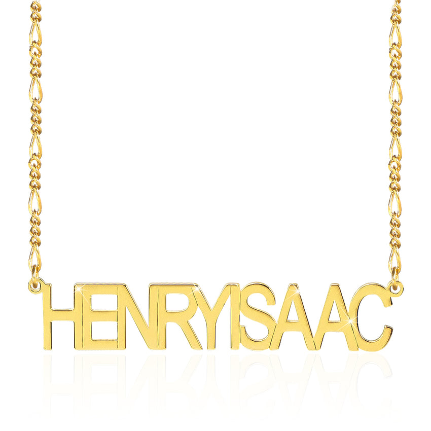 18K Gold Plated Personalized Capital Letter Name Necklace