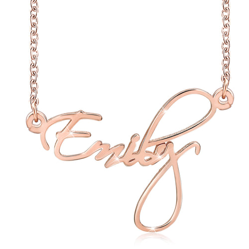 18K Gold Plated Personalized Name Necklace Jewelry Kids - Silviax