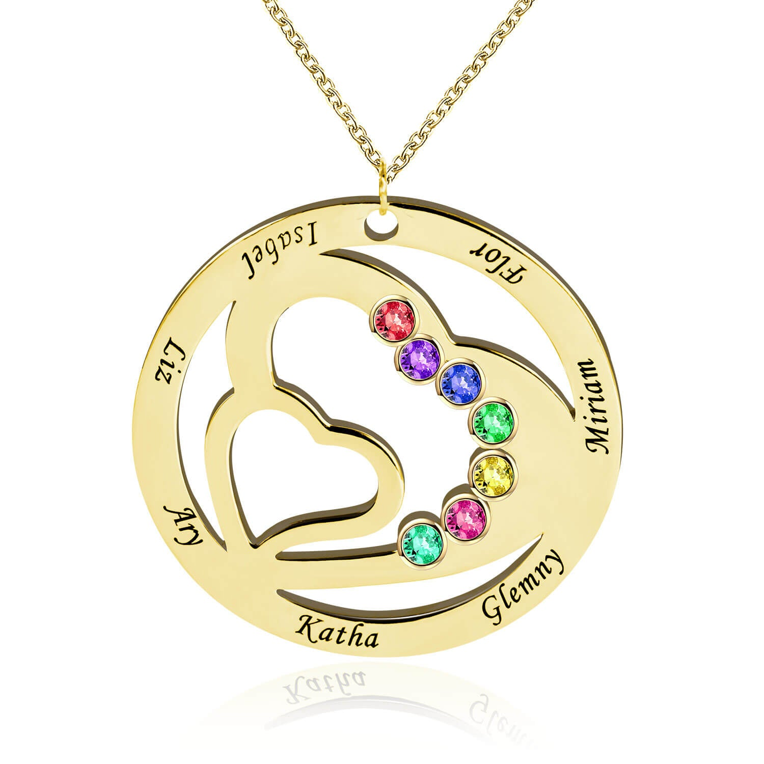 Mother/Grandmother Necklace With Kids Names