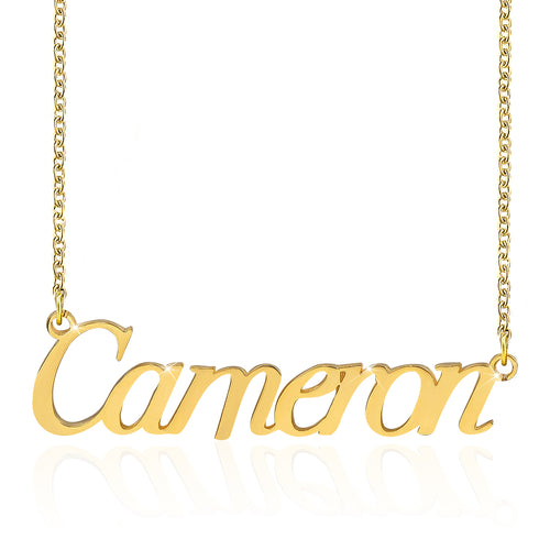 18K Gold Plated Personalized Name Necklace