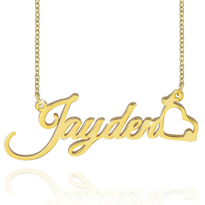 18K Gold Plated Name Necklace Personalized Jewelry