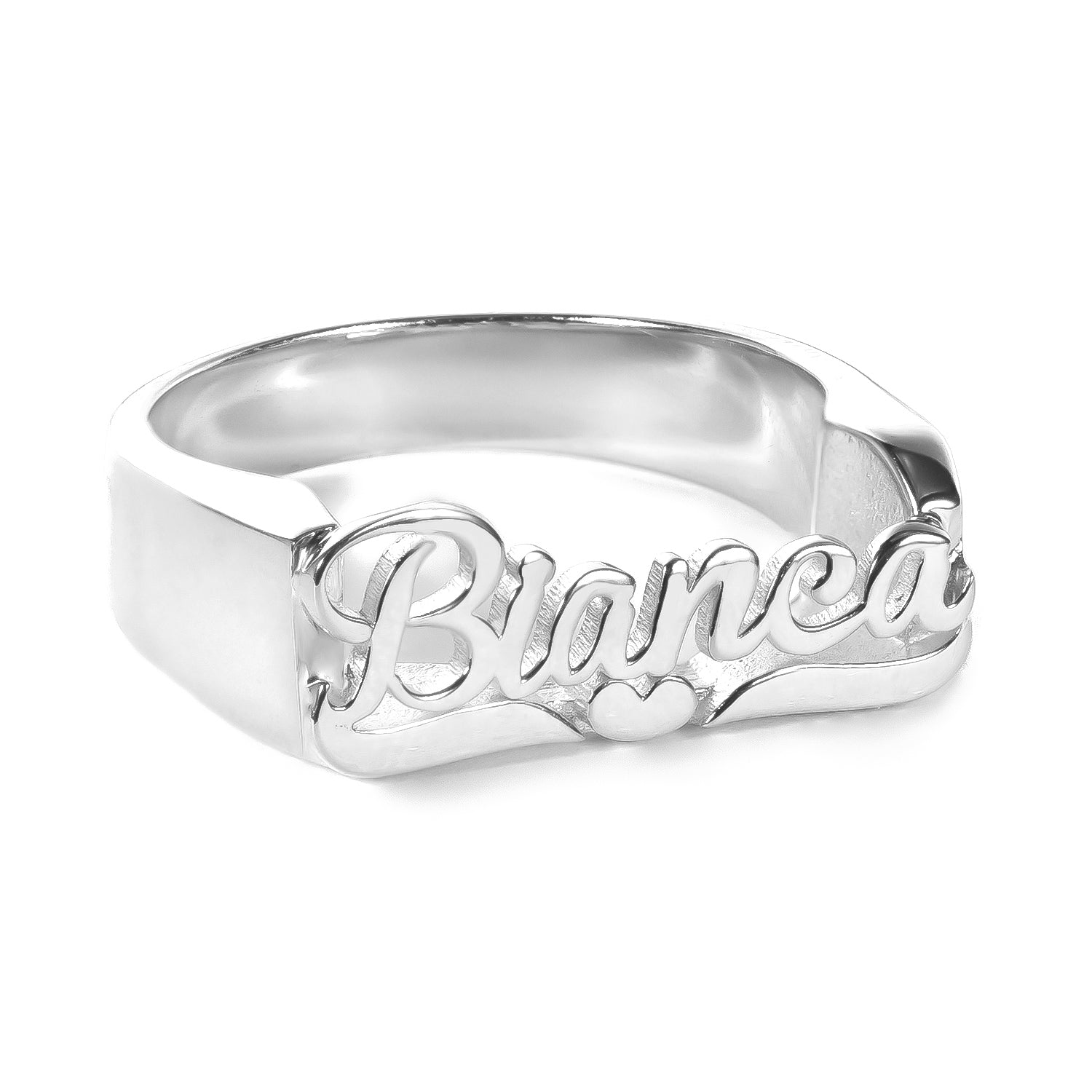18k Gold Plated Personalized Name Heart Ring