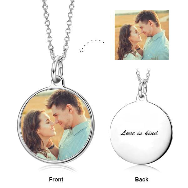 Copper/925 Sterling Silver Personalized Color Photo Necklace