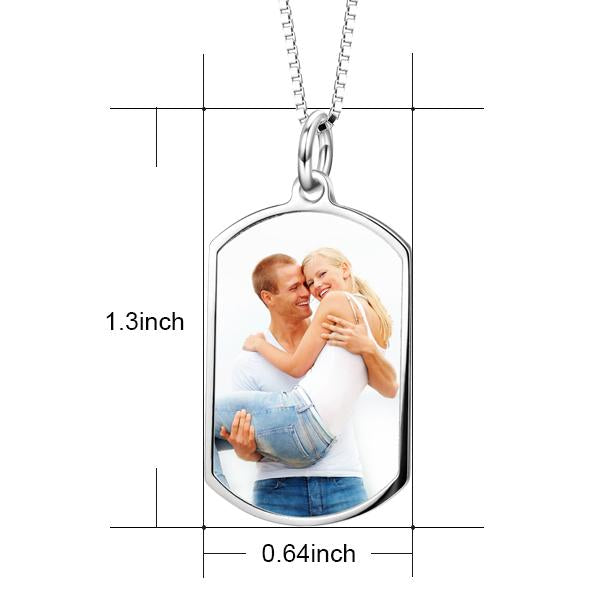 Custom Color Photo Necklace Personalized Jewelry