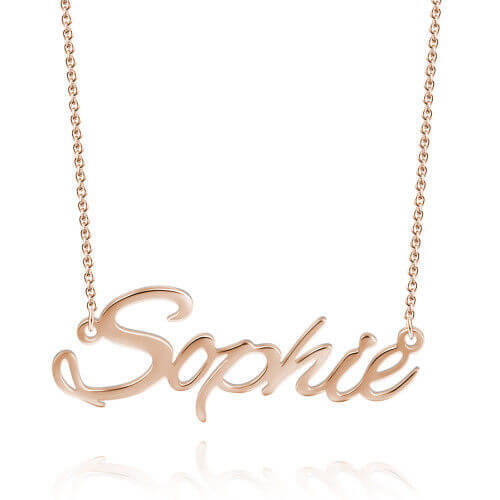 Personalized Name Necklace 18K Gold Plated Custom Jewelry Special Gift