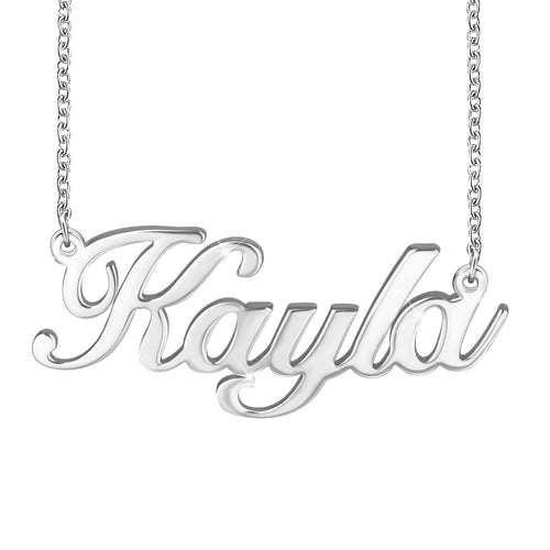Name Pendant Customized 18K  Gold Plated Name Necklace