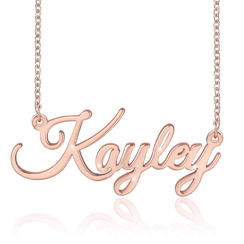18K Gold Plated Personalized Name Necklace Custom Jewelry Special Gift - Silviax
