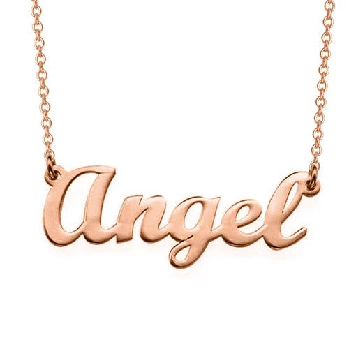 Script Name Necklace 18k Gold plated
