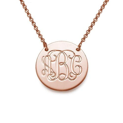 3 letters Monogram Necklace 18k Gold Plated