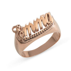 18K Gold Plated Personalized Customized Name Ring