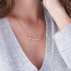 Silviax Carrie Name Necklace 18k Gold Planted