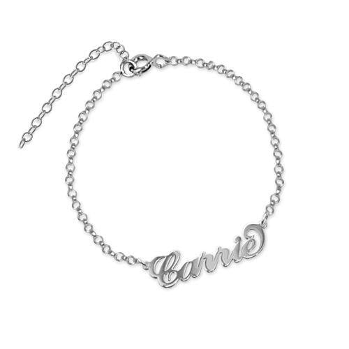 "18k gold plated ""Carrie"" Name Bracelet For Gift - Silviax"