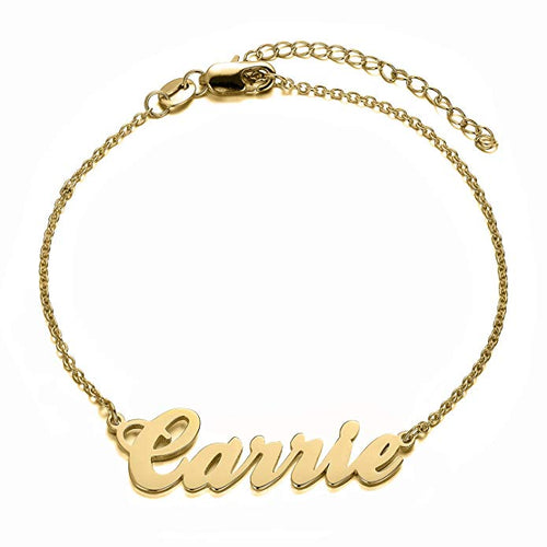 18K Gold Name Bracelet / Anklet With Name For Gift - Silviax