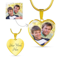 Heart border 18K Gold Plated Personalized Photo Necklace