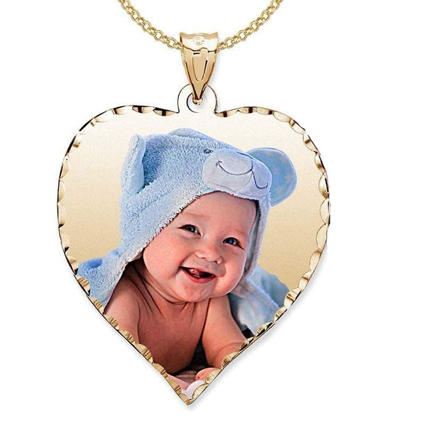 Heart Pendant 18K Gold Plated Personalized Photo Necklace