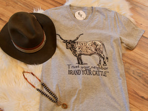 Brand Your Cattle Vneck