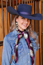 Load image into Gallery viewer, Plum Concho Scarf