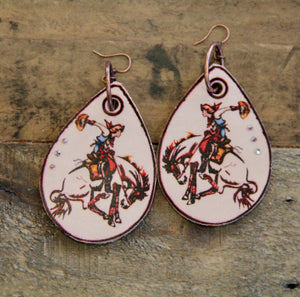 Cowgirl Bronc Rider Earrings