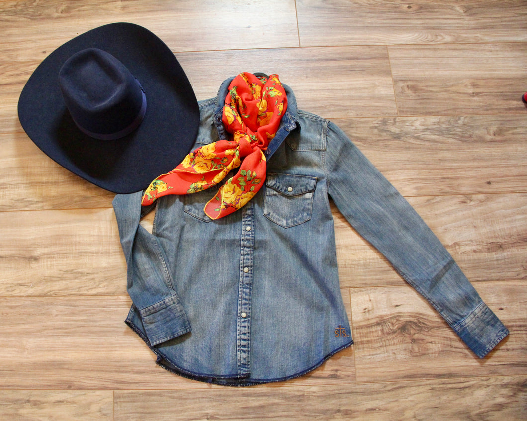 Denim Darlin Western Shirt