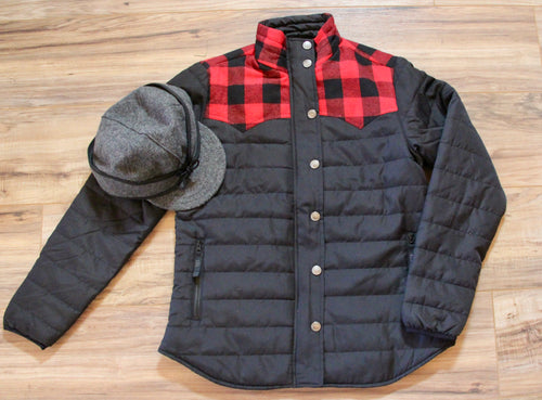 Presley Plaid Branding Jacket